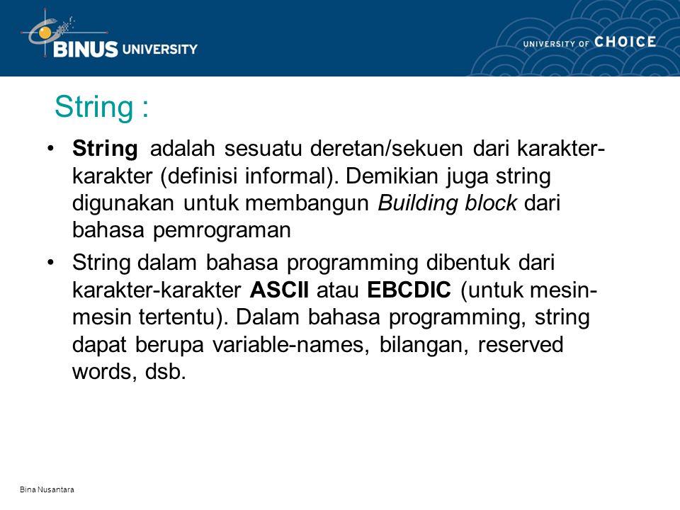 String :