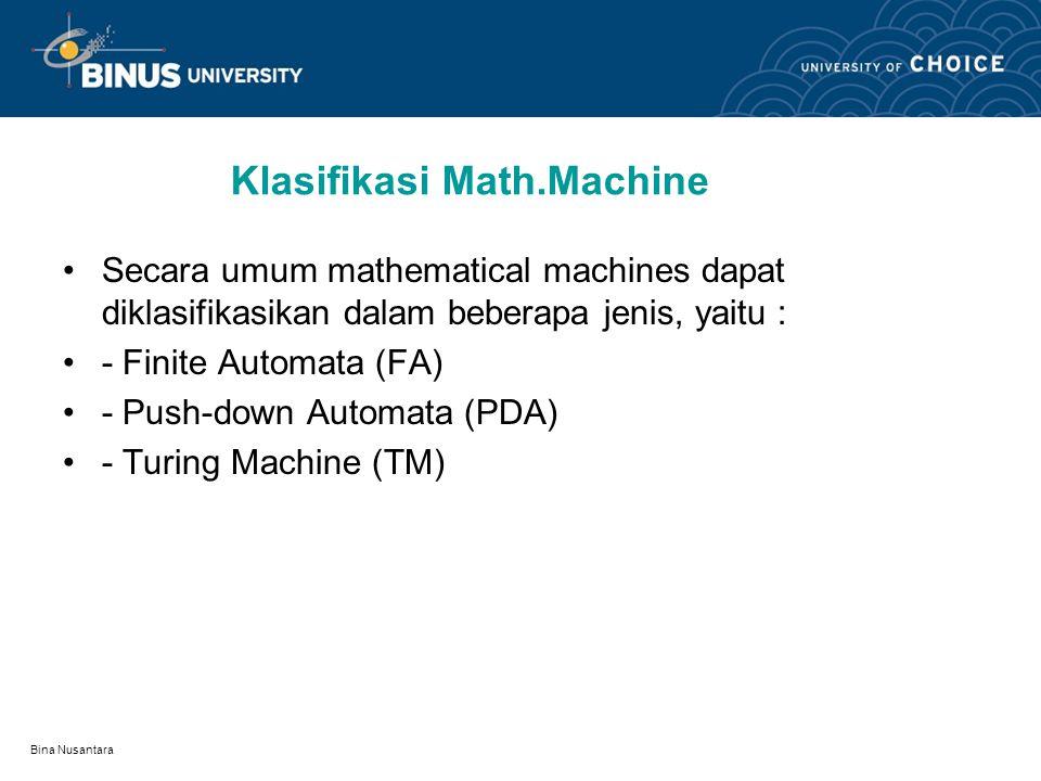 Klasifikasi Math.Machine