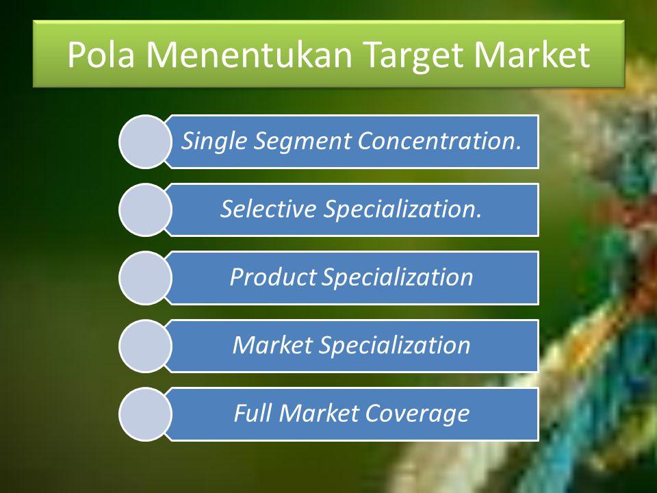 Pola Menentukan Target Market