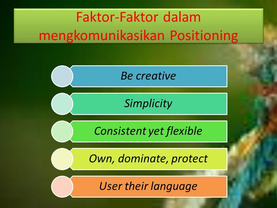 Faktor-Faktor dalam mengkomunikasikan Positioning