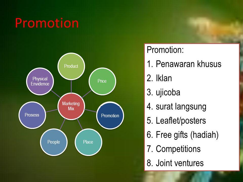 Promotion Promotion: Penawaran khusus Iklan ujicoba surat langsung