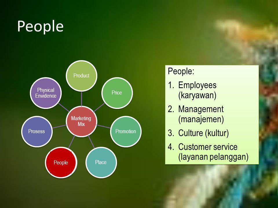 People People: Employees (karyawan) Management (manajemen)