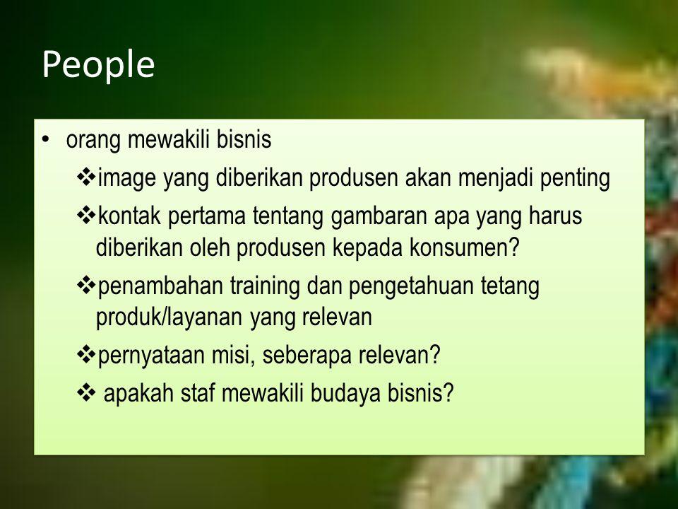 People orang mewakili bisnis