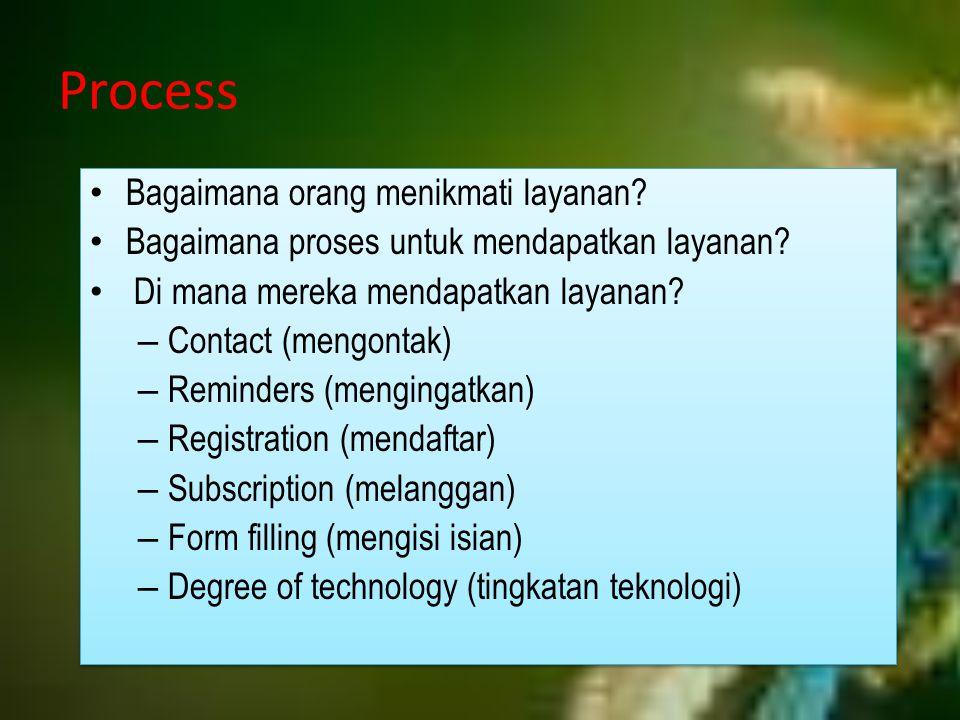 Process Bagaimana orang menikmati layanan