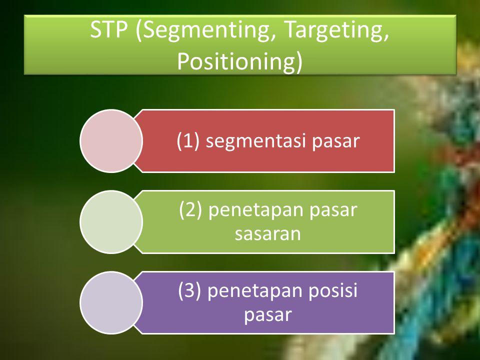 STP (Segmenting, Targeting, Positioning)
