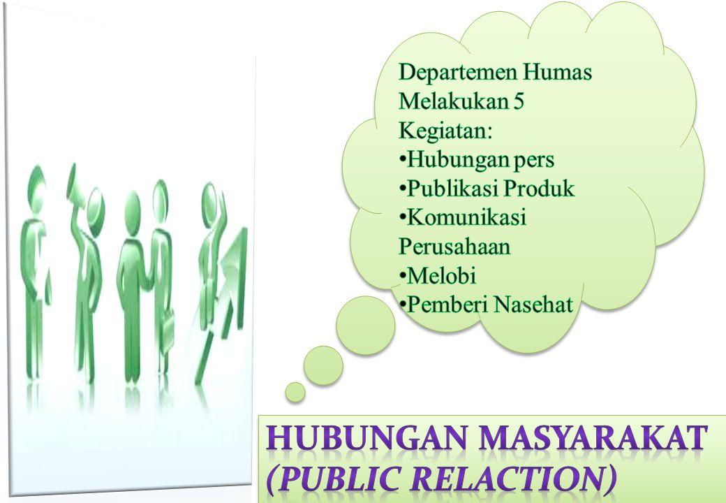 Keputusan Utama Hubungan Masyarakat dalam Pemasaran