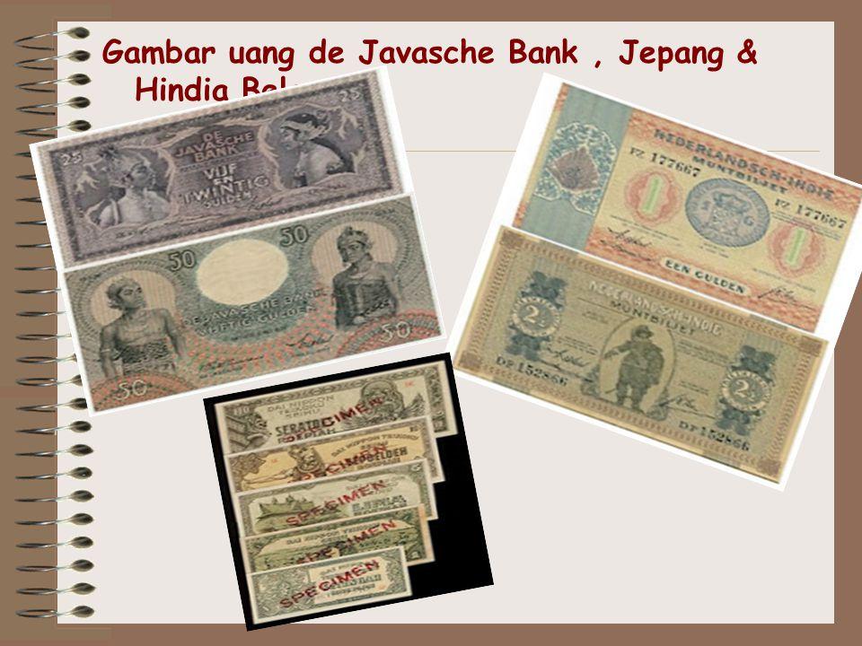 Gambar uang de Javasche Bank , Jepang & Hindia Belanda
