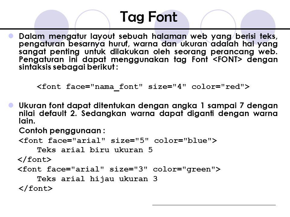 Tag Font