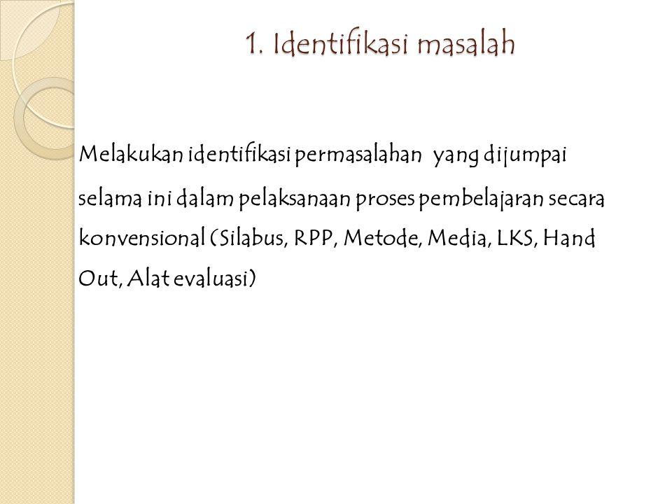 1. Identifikasi masalah