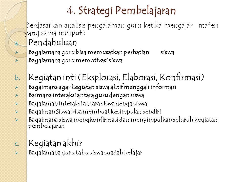 4. Strategi Pembelajaran