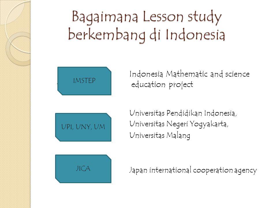 Bagaimana Lesson study berkembang di Indonesia