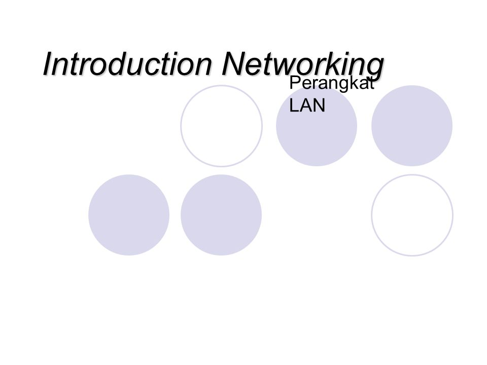 Introduction Networking