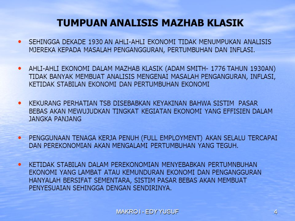 TUMPUAN ANALISIS MAZHAB KLASIK