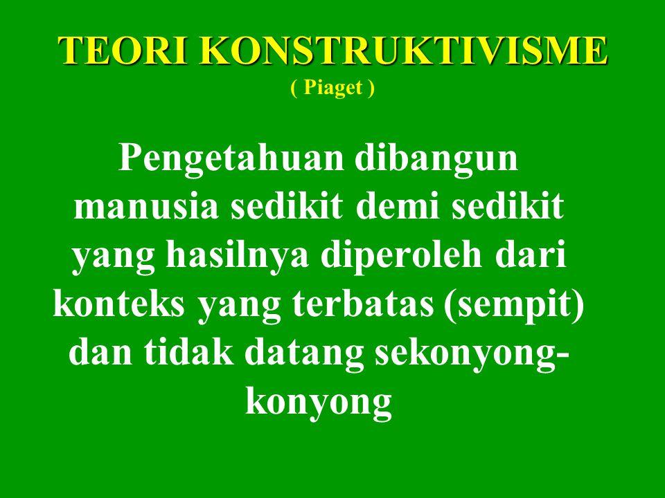 TEORI KONSTRUKTIVISME ( Piaget )