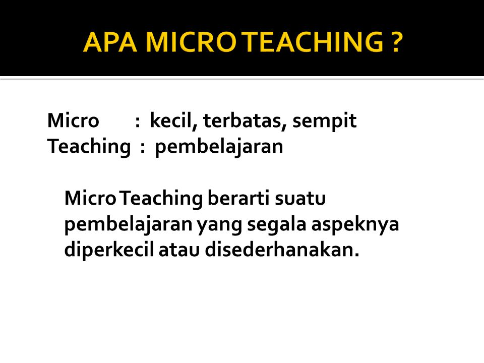 APA MICRO TEACHING
