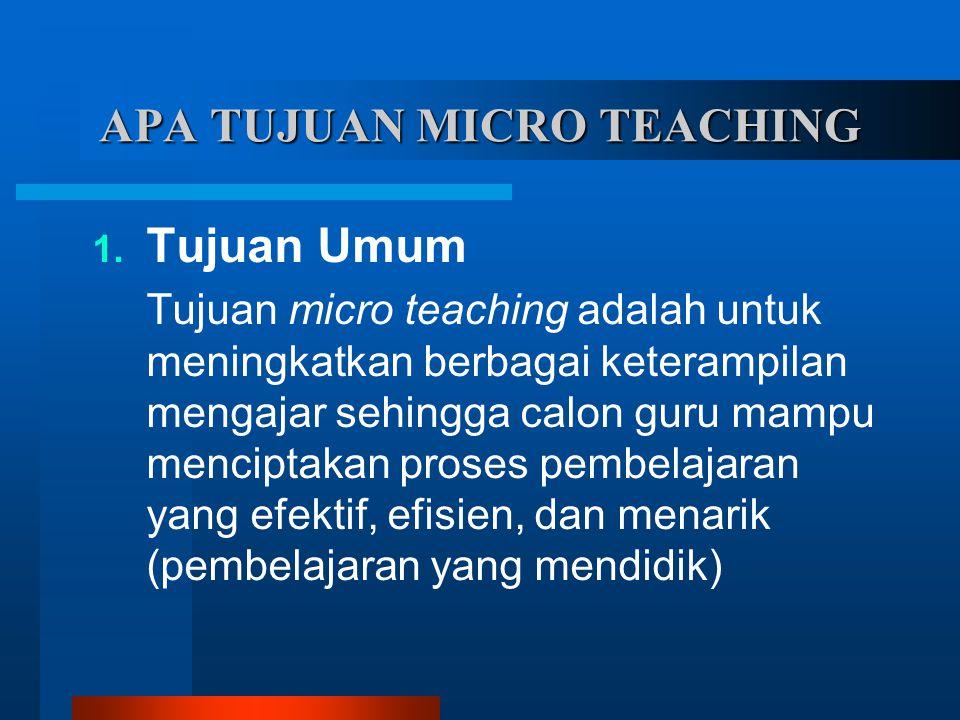 APA TUJUAN MICRO TEACHING