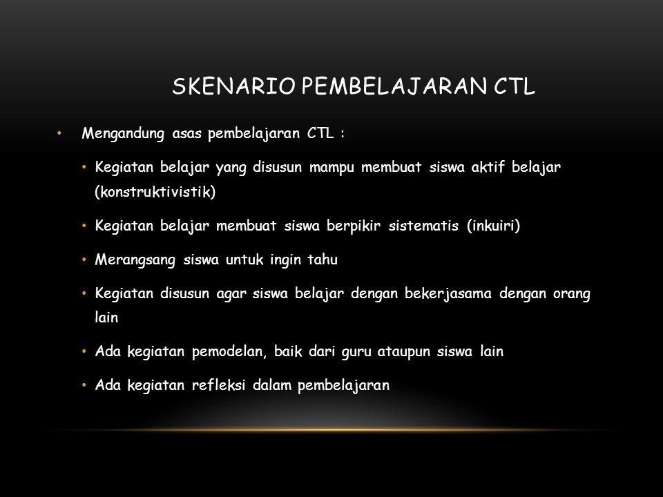Skenario pembelajaran CTL
