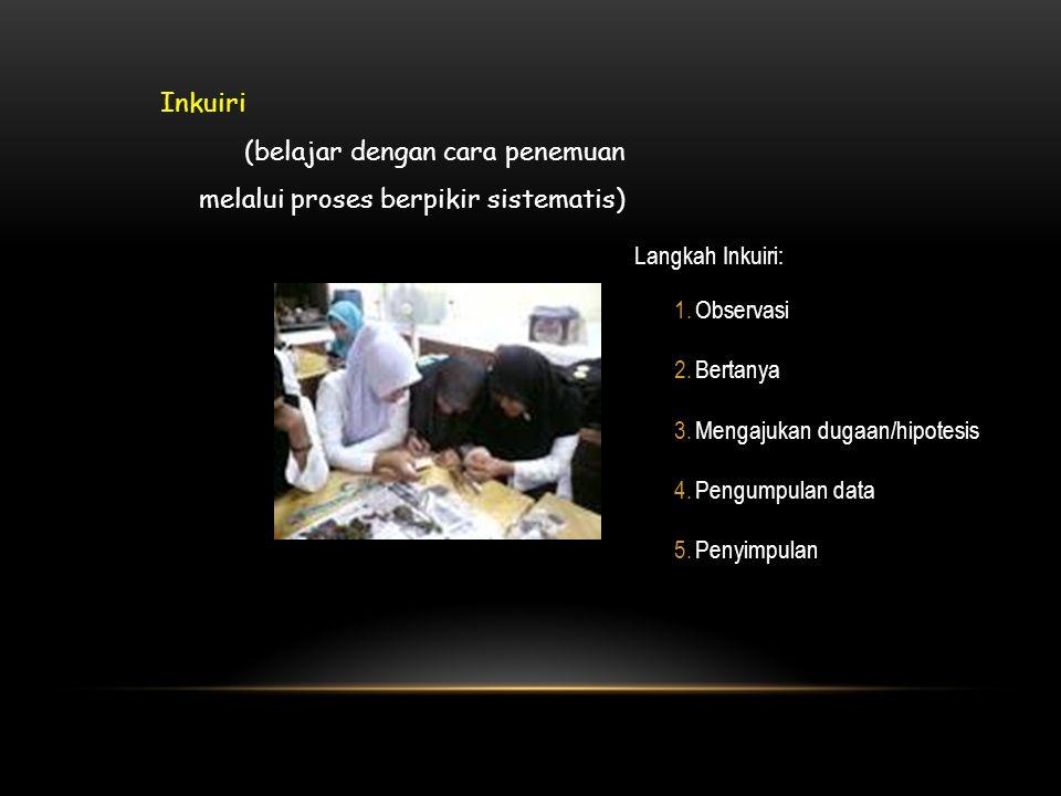 (belajar dengan cara penemuan melalui proses berpikir sistematis)
