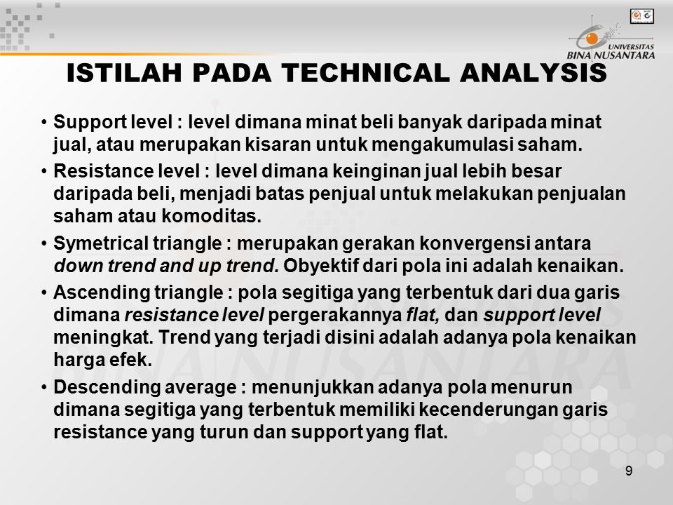 ISTILAH PADA TECHNICAL ANALYSIS