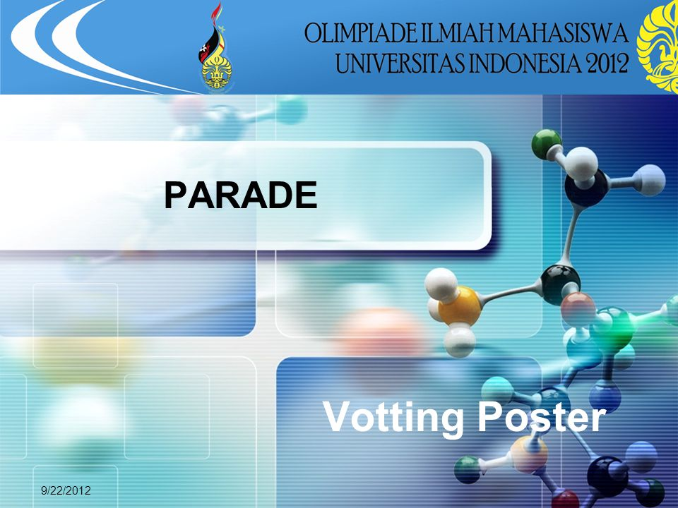 PARADE Votting Poster 9/22/2012