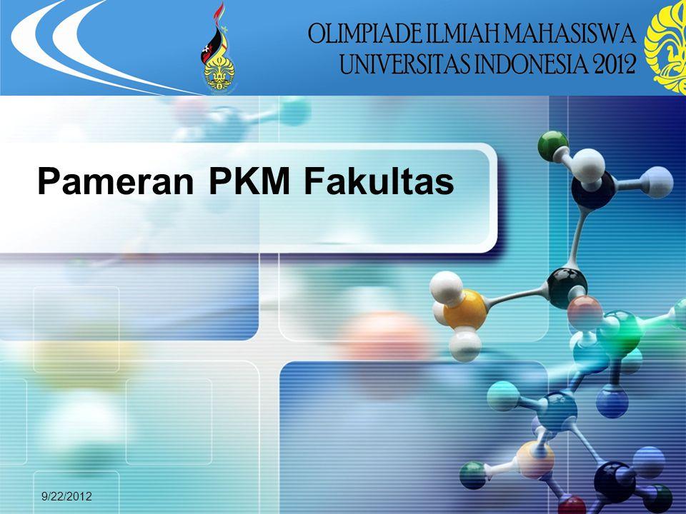 Pameran PKM Fakultas 9/22/2012