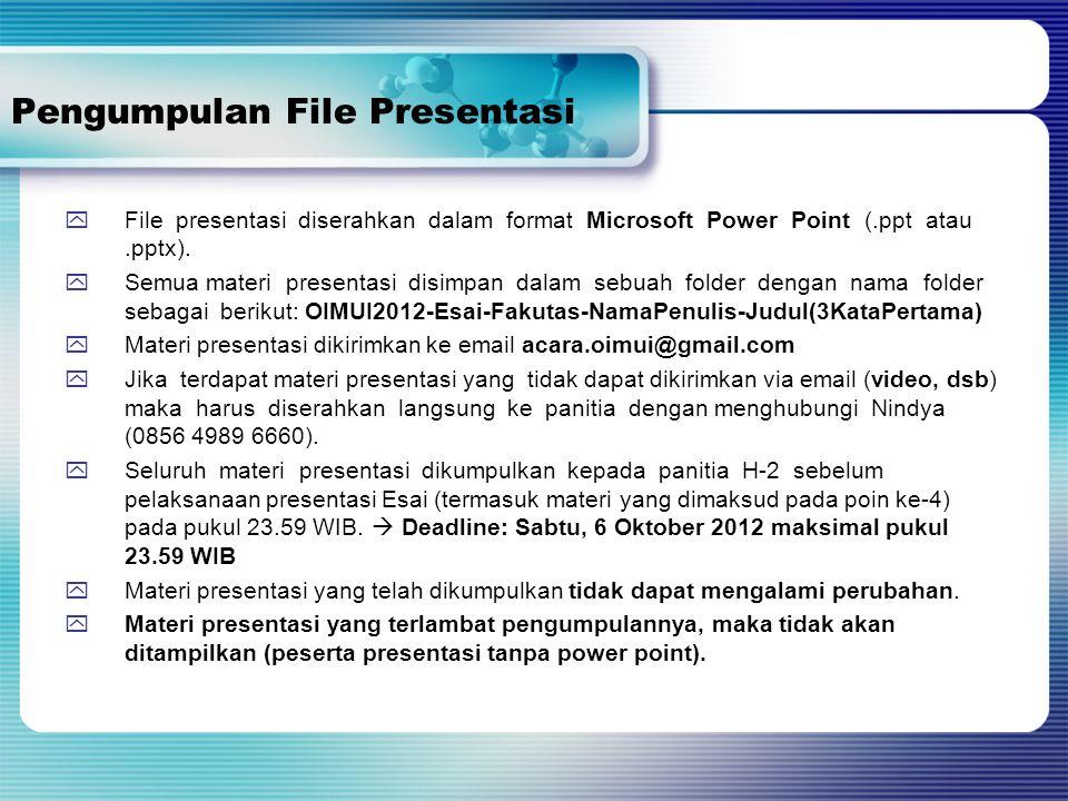Pengumpulan File Presentasi