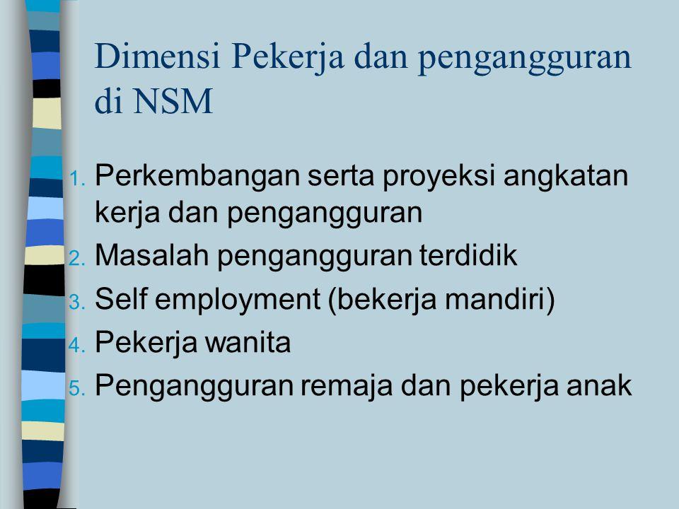 Dimensi Pekerja dan pengangguran di NSM