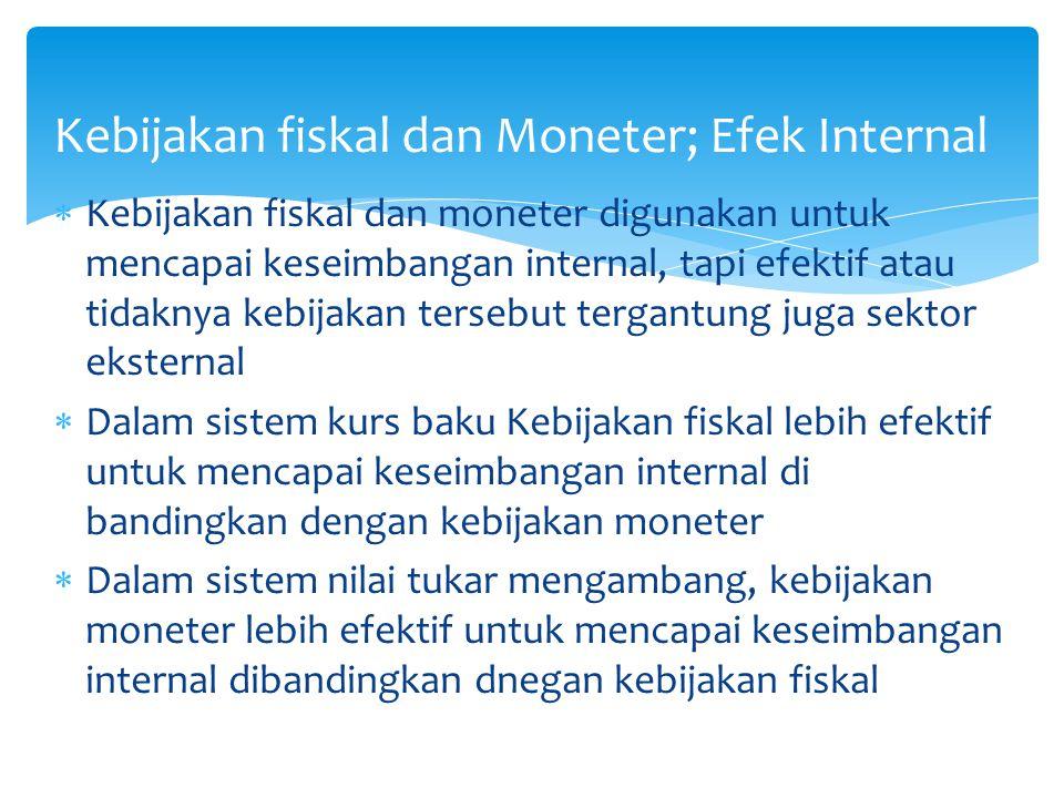 Kebijakan fiskal dan Moneter; Efek Internal