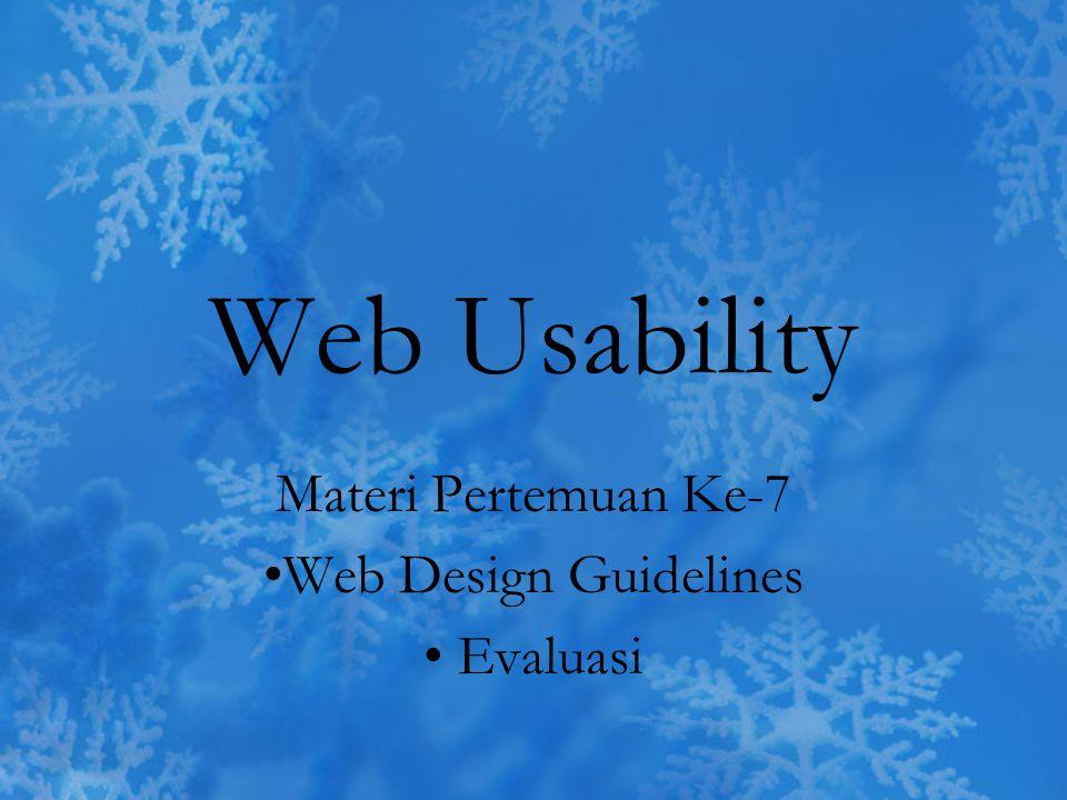 Materi Pertemuan Ke-7 Web Design Guidelines Evaluasi