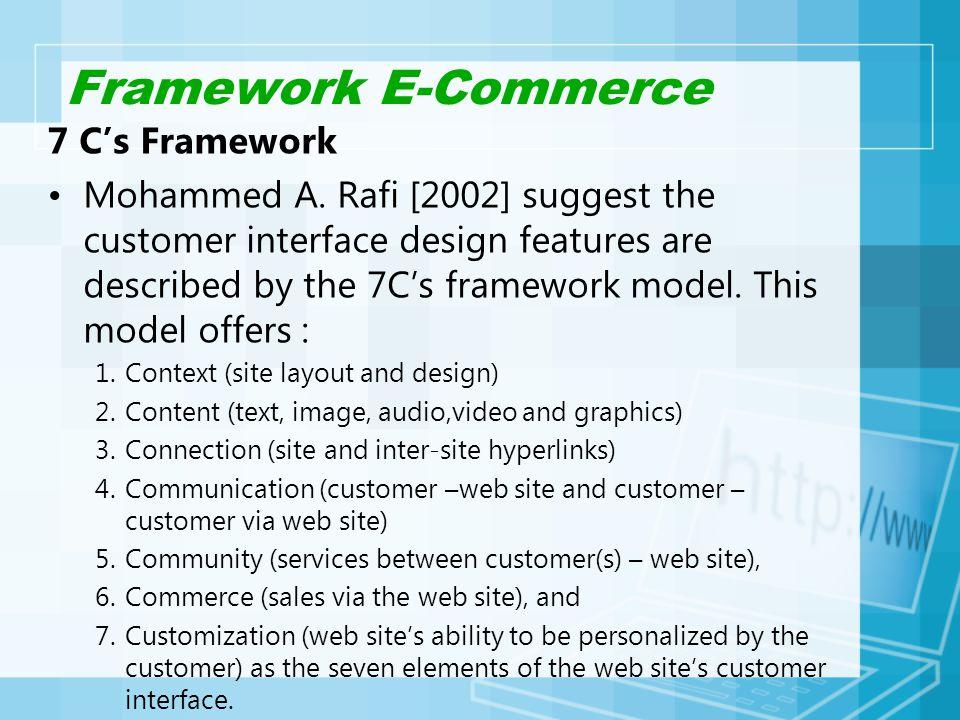 Framework E-Commerce 7 C's Framework