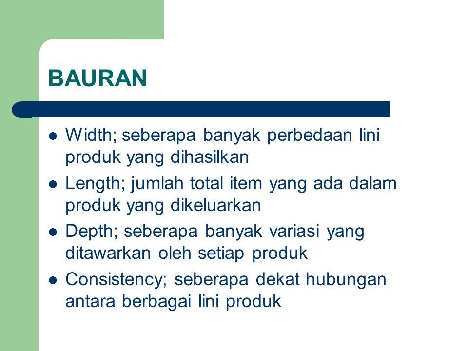 BAURAN Width; seberapa banyak perbedaan lini produk yang dihasilkan