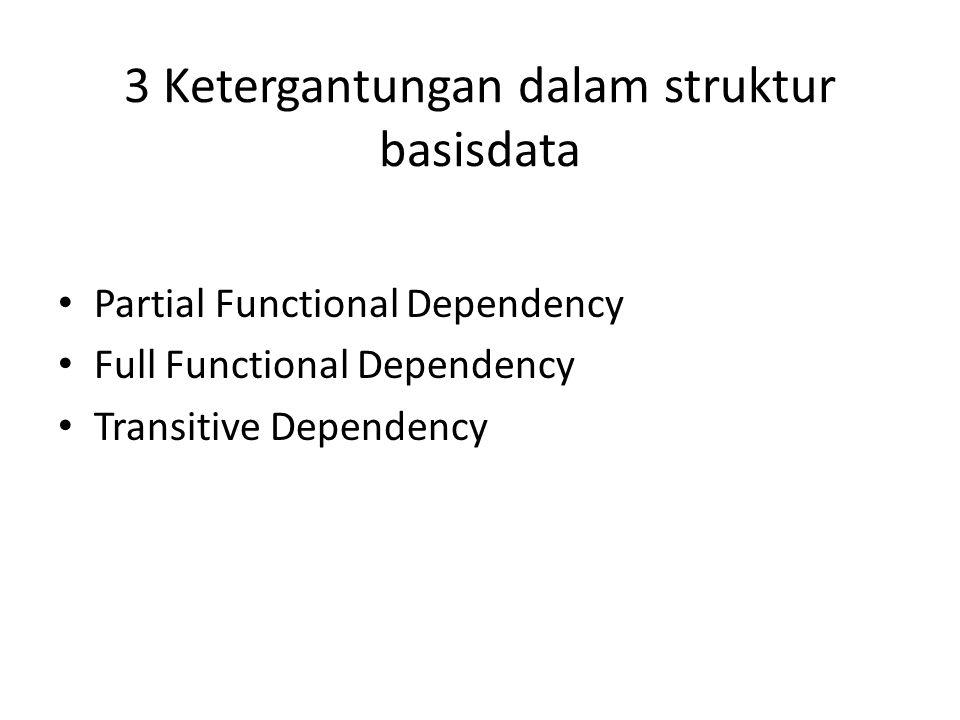 3 Ketergantungan dalam struktur basisdata