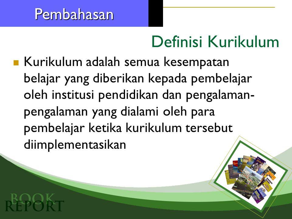 Definisi Kurikulum Pembahasan