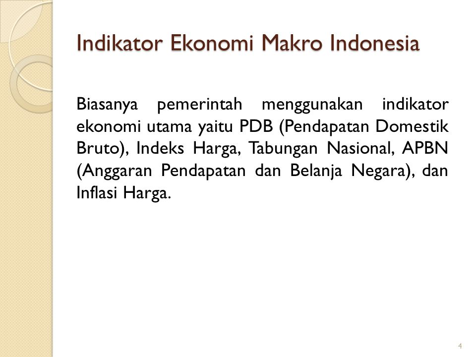 Indikator Ekonomi Makro Indonesia