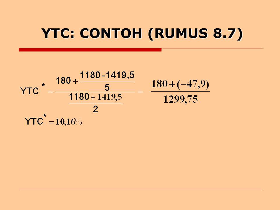 YTC: CONTOH (RUMUS 8.7)