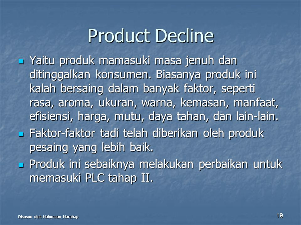 Product Decline