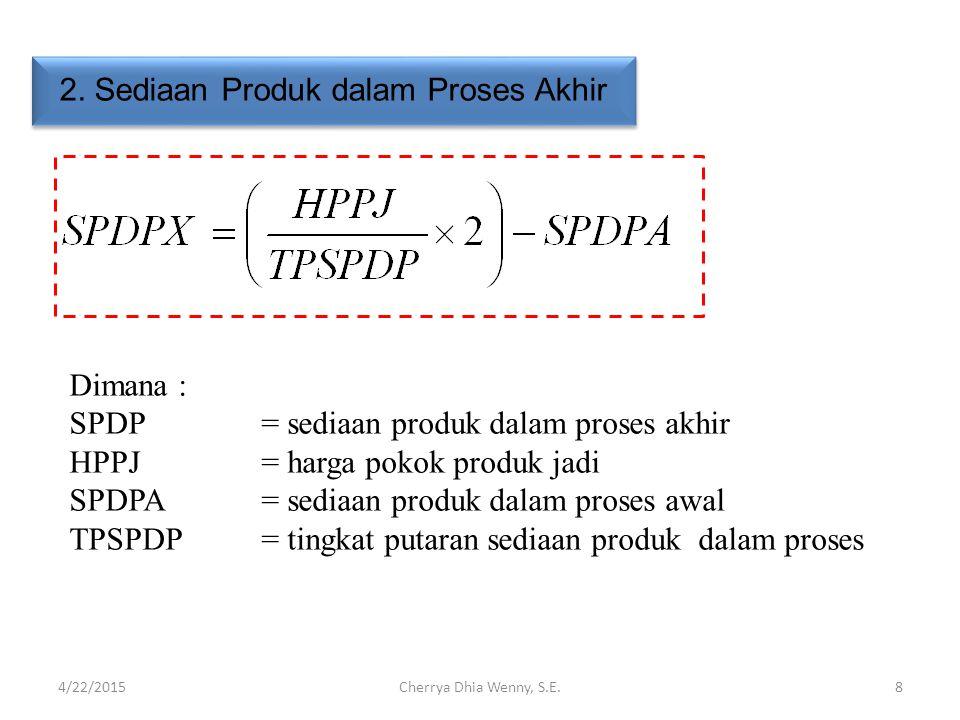 2. Sediaan Produk dalam Proses Akhir