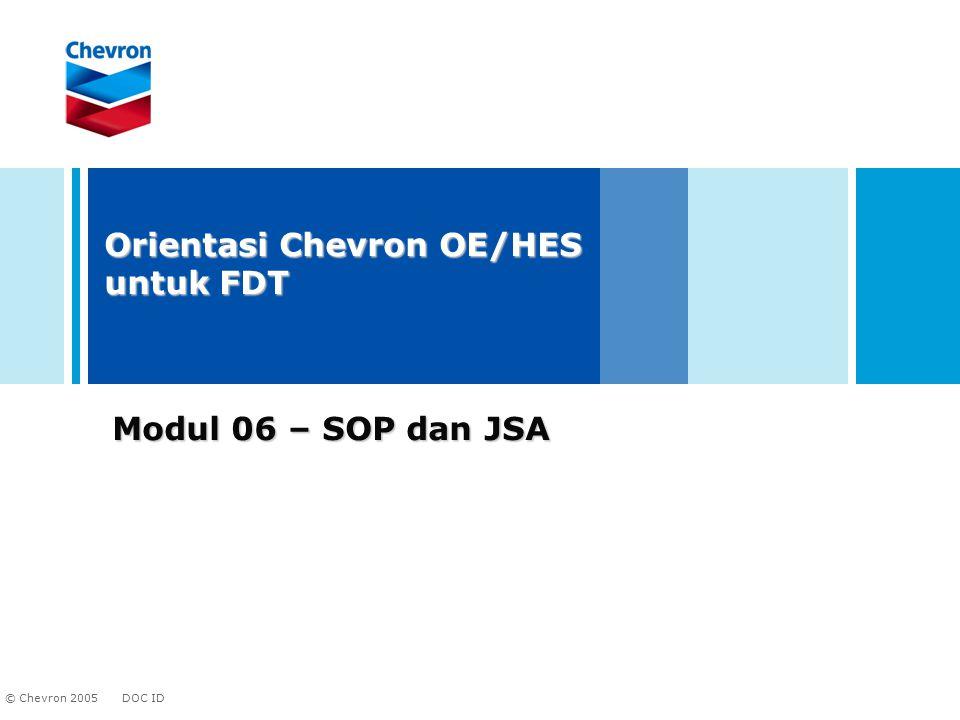 Orientasi Chevron OE/HES untuk FDT