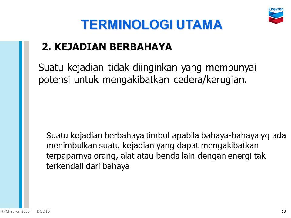 TERMINOLOGI UTAMA 2. KEJADIAN BERBAHAYA