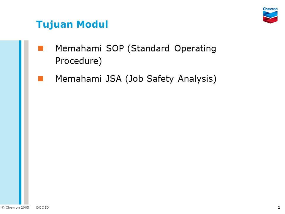 Tujuan Modul Memahami SOP (Standard Operating Procedure)