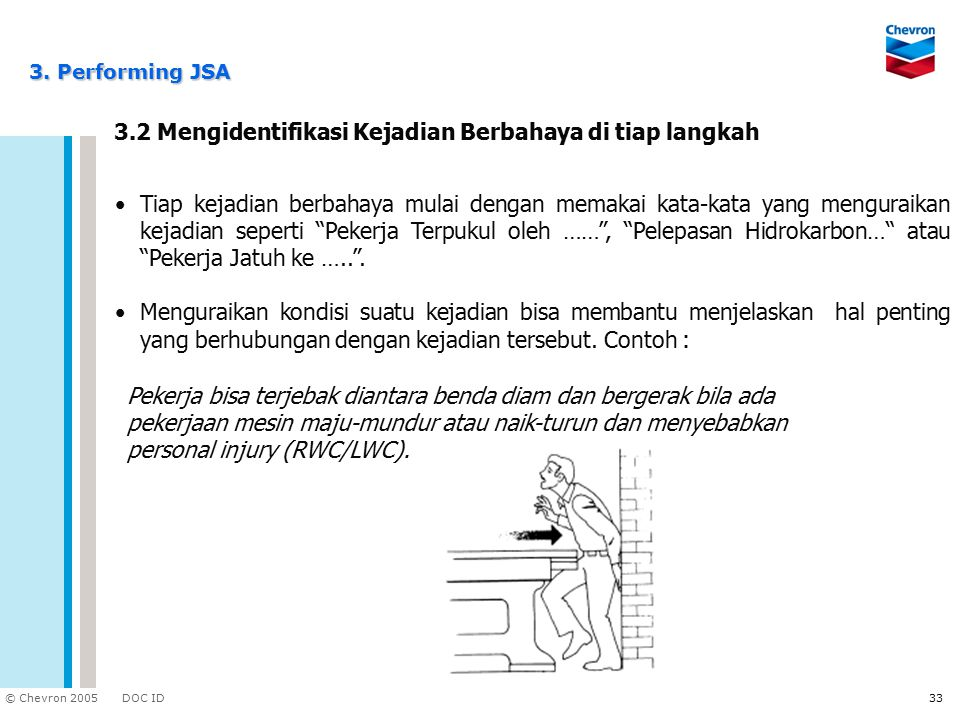 3.2 Mengidentifikasi Kejadian Berbahaya di tiap langkah