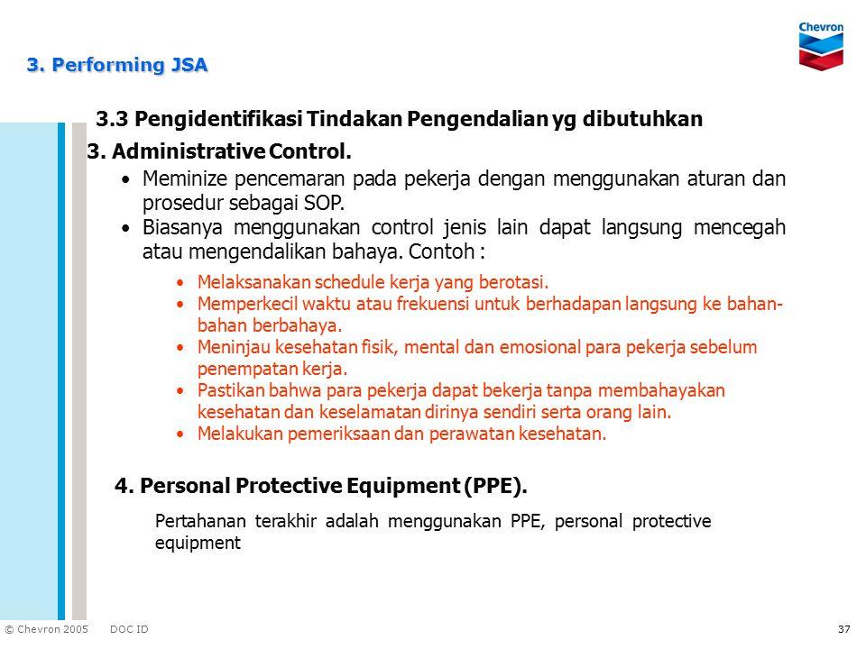 3.3 Pengidentifikasi Tindakan Pengendalian yg dibutuhkan
