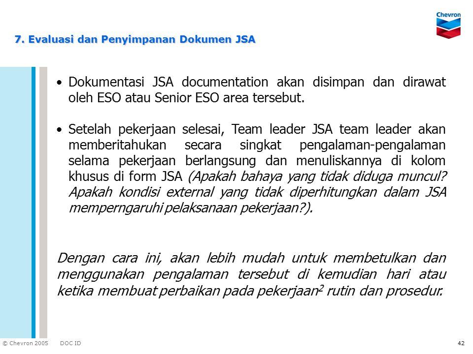 7. Evaluasi dan Penyimpanan Dokumen JSA