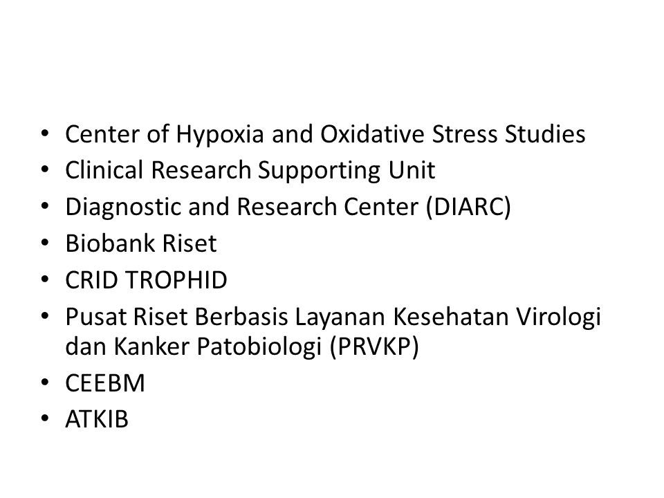 Center of Hypoxia and Oxidative Stress Studies