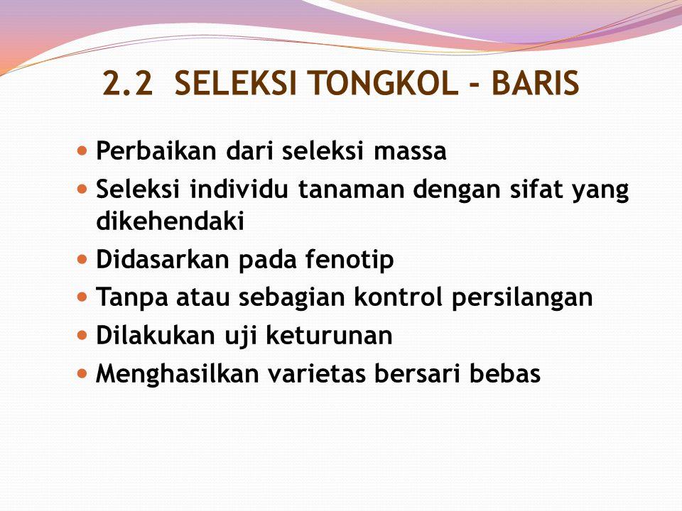 2.2 SELEKSI TONGKOL - BARIS