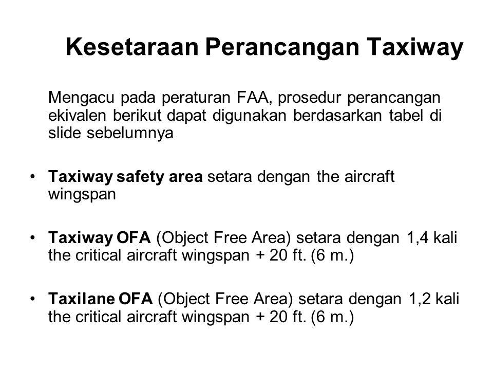 Kesetaraan Perancangan Taxiway