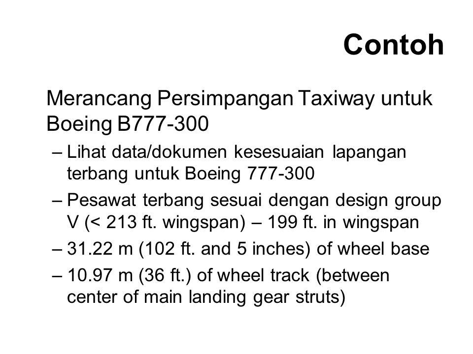 Contoh Merancang Persimpangan Taxiway untuk Boeing B777-300
