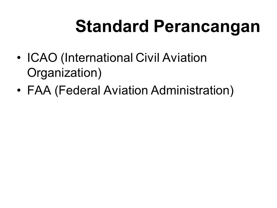 Standard Perancangan ICAO (International Civil Aviation Organization)