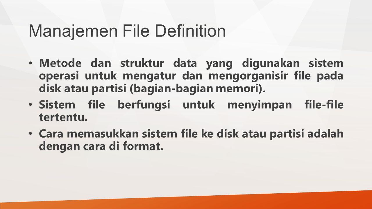 Manajemen File Definition