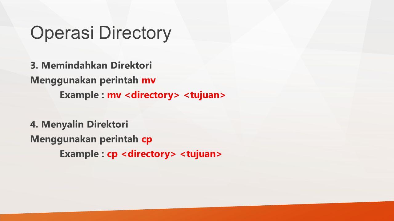 Operasi Directory